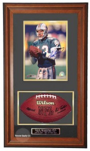 NLF 8x10 Photo and Football Case