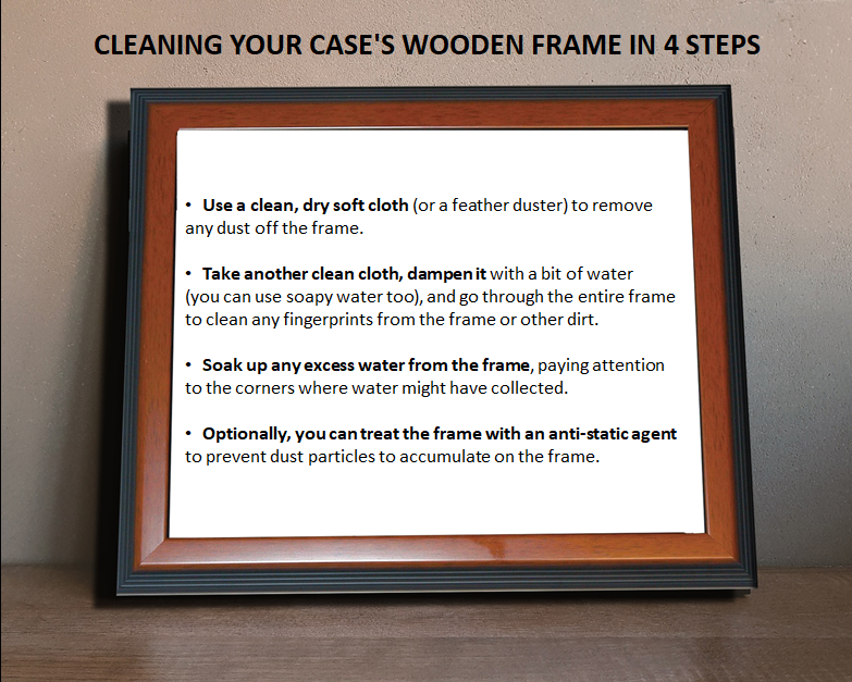 How To Clean the Wooden Frame of Your Display Case
